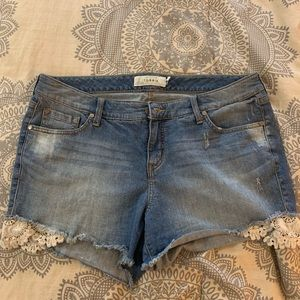 Torrid light wash shorts